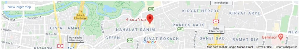 """מפת גוגל מיקום משרד עו""""ד ולדמן דוד זוכוביצקי"""
